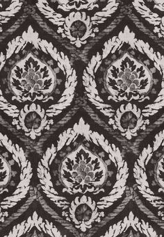 Abaza Resist Charcoal Fabric SKU - 173950