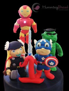 Baby Avengers cake ~ cute!