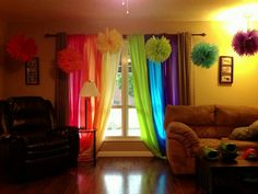 Rainbow curtains are a must!! <3