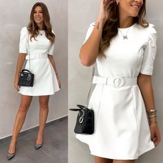 Cute Dresses, Casual Dresses, Fashion Dresses, Vivi Fashion, Best Casual Outfits, One Piece Dress, Casual Chic, Casual Looks, Clothes For Women