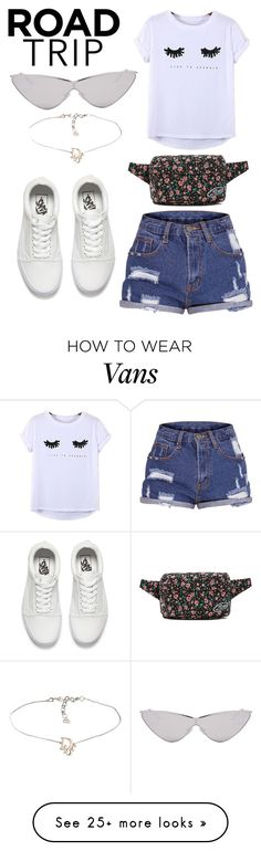 """Road Trip #6"" by styleislife12 on Polyvore featuring Chicnova Fashion, Vans, Le Specs and roadtrip"