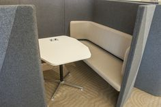LFI Install Of Booth Seating With Privacy And Sound Buffer