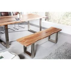 Inspiration of Wooden Bench Designs You can Make Yourselft Loft Design, Modern Design, House Design, Industrial Furniture, Outdoor Furniture, Outdoor Decor, Acacia Wood, Minimalist Home, Dining Bench