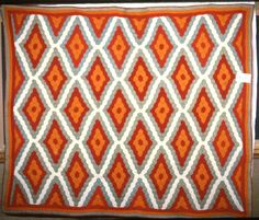 Diamond Shape Hexagon quilt; Kentucky Quilt Project; 1876-1900; quiltmaker born in 1885, made in Madisonville, Kentucky