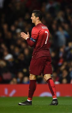 Cristiano Ronaldo of Portugal looks on during the International Friendly match between Argentina and Portugal at Old Trafford on November 18, 2014 in Manchester, England.
