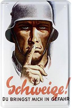 Amazon.de: Schweige! Soldat Deutsches Reich Wehrmacht Blechschild 20 x 30 Retro Blech 806
