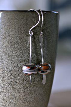 Silver Axis Earrings