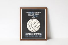 Coach Christmas Gifts, Coach Gifts, Printable Quotes, Printable Wall Art, Team Word, Coach Appreciation Gifts, Choose Quotes, Senior Night Gifts, Coaching Volleyball