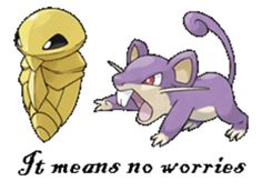 Kakuna Rattata, What a wonderful phrase!