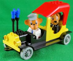 Vintage 1986 Lego Fabuland Set 3644 The Mayor's Car with Mike Monkey & Lion Lion