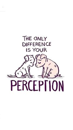 The only difference is your perception - Vegetarian lifestyle