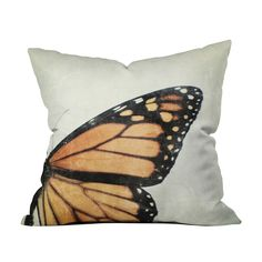 Butterfly Wing Throw Pillow Cover | dotandbo.com