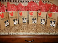 mickey mouse birthday goody bags | mickey mouse custom confetti mickey mouse door decoration