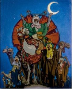 "Frank Brangwyn: ""The Three Kings, Oil on x 24 in x 61 cm.): The three kings was used as the Cover design of Antiques Collections Magazine, december thumb] as well as the Cover design of The Radio Times in December 1934 Christmas And New Year, Cover Design, The Twenties, Modern Art, Religion, King, Fine Art, Antiques, Painting"
