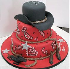 Cowboy cake - for the Little Cowboys