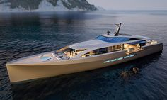 The gentleman's motor yacht – CNB is a new motor superyacht project designed by German Frers for French yard CNB. To be built with an aluminum hull and deck composite superstructure, CNB… Yacht Design, Boat Design, Yatch Boat, Catamaran, Super Yachts, Speed Boats, Power Boats, House Yacht, Yacht Broker