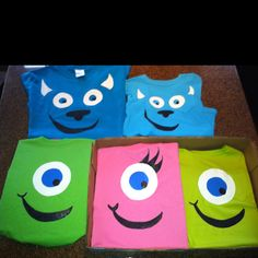 """Monsters, Inc.  Mike and Sully t-shirts for party...and a """"girl"""" Mike, too!!"""