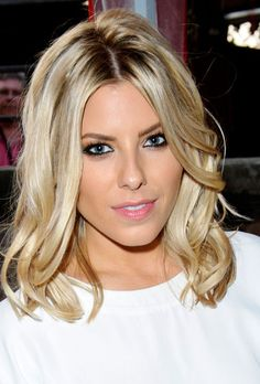 long bob with loose curls mollie king