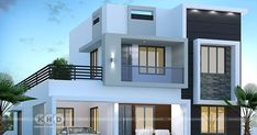 3 bedroom modern contemporary house plan in an area of 1750 square feet by Dream Form from Kerala. Modern Bungalow House Design, House Roof Design, Two Story House Design, Modern Small House Design, Modern Exterior House Designs, 2 Storey House Design, Modern Minimalist House, Duplex House Design, Contemporary House Plans