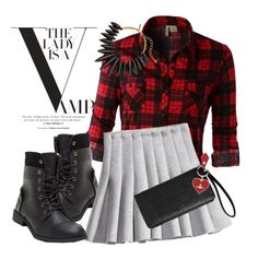 """""""Playing Grunge"""" by adduncan ❤ liked on Polyvore featuring LE3NO, H&M, Avenue, Vivienne Westwood and Oscar de la Renta"""