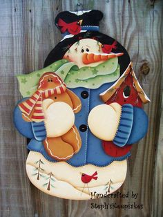 Wall+Hanging+Snowman+by+stephskeepsakes+on+Etsy,+$28.99