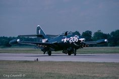 A Grumman F9F Panther on the taxiway.