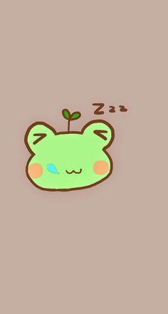 Sleeping Frog. Tap to see 8 Cartoon Sleepy Animals Zzz Wallpapers - @mobile9 #cute #chibi #cartoon