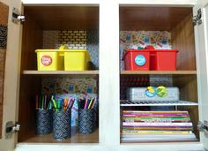 our fifth house: Organization Station, craft caddy for each child