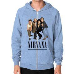 Nirvana Seinfeld Zip Hoodie (on man) Shirt