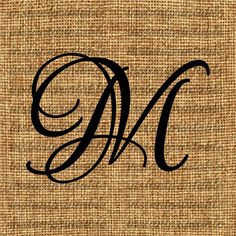 Monogram  Initial Letter M Letter Clip Art by InstantPrintable, $1.80