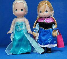 "Frozen Elsa & Anna 12"" Doll Set Precious Moments Disney Parks 5007 5008 Signed  #PreciousMoments #VinylDolls"