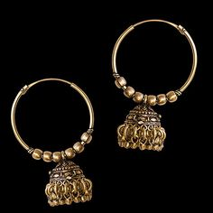 Traditional Rajasthani Brass Earrings Tribal Jewelry by RONIBIZA