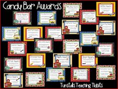Hi Friends! I created academic awards for the end of the year.  These say 2011-2012 but I have since taken the year off of them and you can use them again and again! I made over 30 different candy awards.   To grab these awards and read more about it click HERE