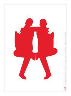 Kiss The Past Hello. Coca-Cola Design: 100 Years of the Coca-Cola Bottle. by: Devon Hong, Coke Ad, Coca Cola Ad, World Of Coca Cola, Ads Creative, Creative Posters, Andy Warhol, Coca Cola Decor, Image Icon, Poster Ads