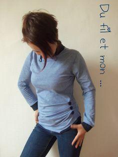Cela fait un petit moment que j'avais mis un marque page sur ce modèle :   Ellébore, sous pull issu du livre  Couture pour femmes  de E...