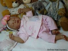reborn life like baby doll created by Andrea Melo of Babies Nest Nursery
