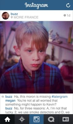 """If Buzz From """"Home Alone"""" Had Instagram"""