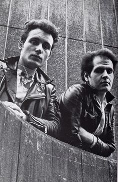 The Magnificent Adam Ant and Marco Pirroni long ago in London Town, wondering which side of the fence you are on?