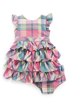Ralph Lauren Plaid Dress & Bloomers (Baby Girls) available at #Nordstrom