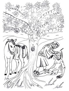 Parable Of The Good Samaritan Sunday School Lesson Craft And Coloring Pictures