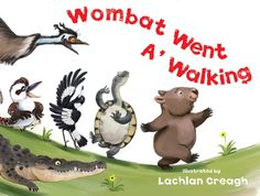 Wombat Went a' Walking by Lachlan Creagh Join wombat and his Aussie animal friends as they jive, bop and twist their way to a party. Zoo Songs, Kids Songs, Australia Animals, Australia Day, Cute Wombat, Australian Bush, Animal Activities, Childhood Education, Music Education