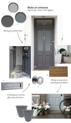 Make an entrance: improving your home's kerb appeal - cate s.- Make an entrance: improving your home's kerb appeal – cate st hill Make an entrance: improving your home& kerb appeal – cate st hill - House Front Door, Up House, House Doors, Front Door Steps, Grey Front Doors, Front Door Colors, Victorian Front Doors, Wooden Door Design, Wooden Doors