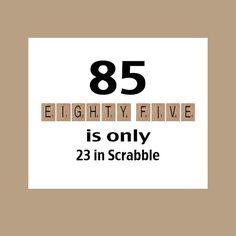 85th Birthday Card Milestone The Big 85 Funny 1934 Scrabble Grandpa