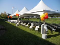 3 20 x 20 festival frame tents for a corporate employee luncheon concert. 844-TENT PRO
