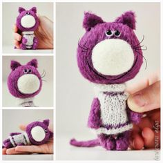 "Vincent - OOAK Collectible Miniature Teddy Cat by Farberova Olga 11.5 cm (4,5""). FOR ADOPTION 89 $ (shipment 7$). farberovao.etsy.com"
