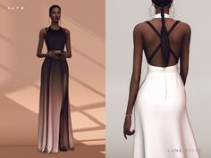 Elie Saab Gradient Dress for The Sims 4