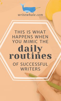 Click through and learn what happens to your writing when you copy the daily routine of successful and happy writers. These are the routines that help you work through writer's block and help you live your best writing life. | productivity | routines | healthy | storytelling | overcome writer's block | how to write more | #amwriting #writerslife #writetip