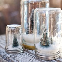 Add some festivity to your decor and create little winter scenes in a jar using this easy, and inexpensive DIY.