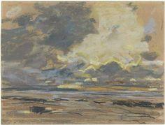 Eugène Boudin, Soleil couchant ou ciel d'orage