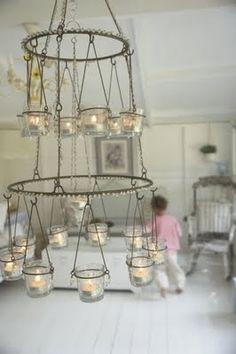 Jar Candle Chandelier